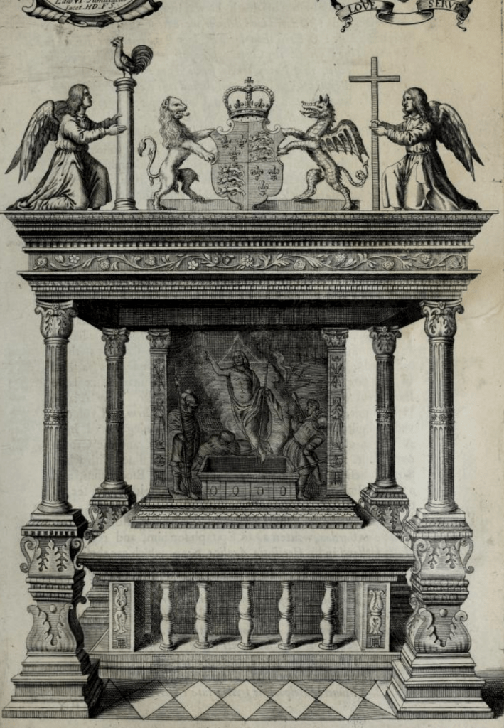 Torregiano's altar sits about the tomb of Edward VI.