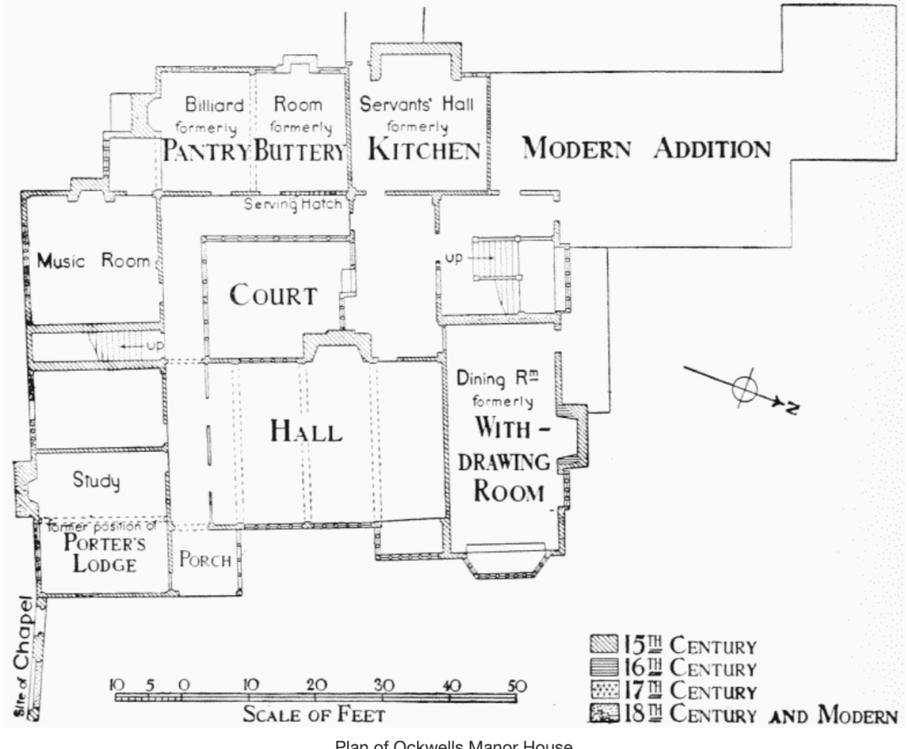 The floor plan of Ockwells