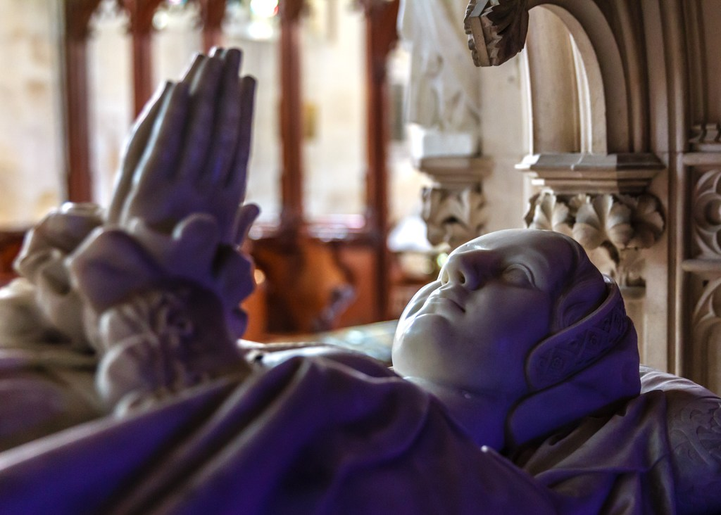 Katherine Parr's tomb at Sudeley castle one of the stops on the 1535 progress