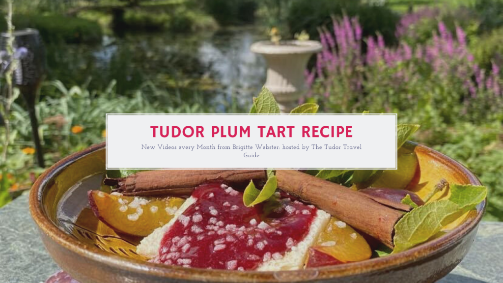 A YouTube thumbnail for Tudor Plum Tart Recipe