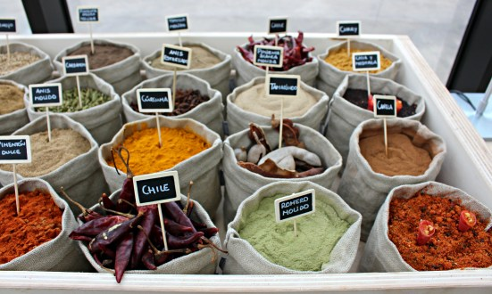 cornetto and spices in the greenhouse of Azurmendi (Spain)