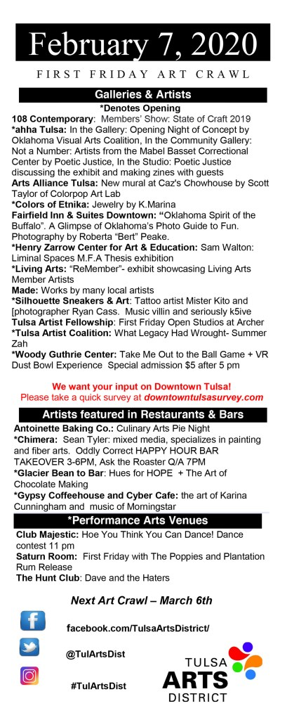 Art Crawl Flyer -Feb '20