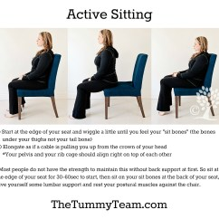 Posture Alignment Chair Diy Throne Free Resources The Tummy Team They Are Not Exactly Ideal For Our Active Sitting Is Foundation To Learning Engage Your Core Muscles