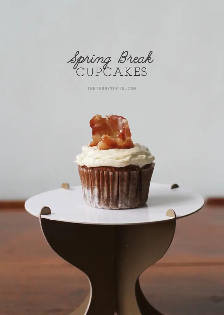 Beerbatter MapleBacon Spring Break Cupcakes