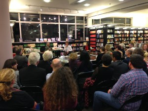 Ismailov, Barnes and Ermakova speak to a packed house