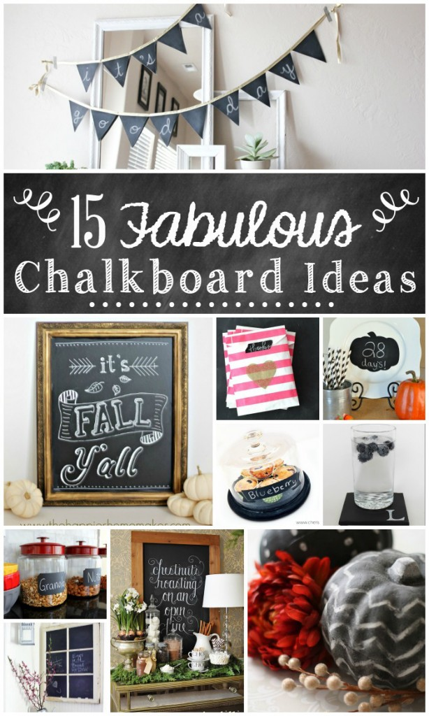 decorative chalkboard for kitchen glass table set 15 fabulous ideas the turquoise home
