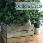 How To Build A Crate Tree Collar The Turquoise Home