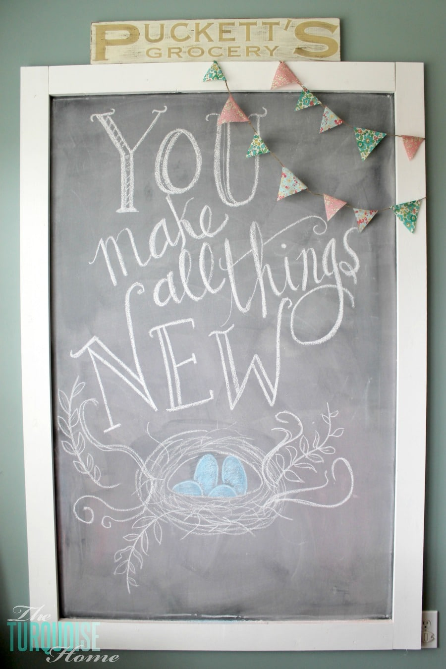 Spring Is Coming Chalkboard Art The Turquoise Home