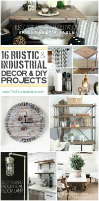 Style Trend: 16 Rustic Industrial Decor Ideas and DIY ...