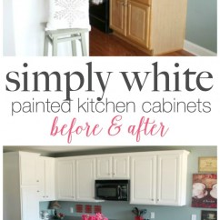 Paint Kitchen Cabinets White Fall Curtains Painted With Benjamin Moore Simply Diy