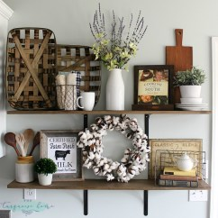Kitchen Shelf Decor Sinks Menards Decorating Shelves In A Farmhouse Love These Tips For Styling 40 Diy Were Transformed With Some Old