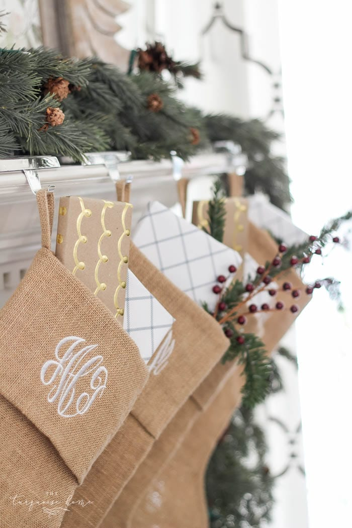 burlap chair covers hanging gumtree magnolia wreath christmas mantel decor | the turquoise home