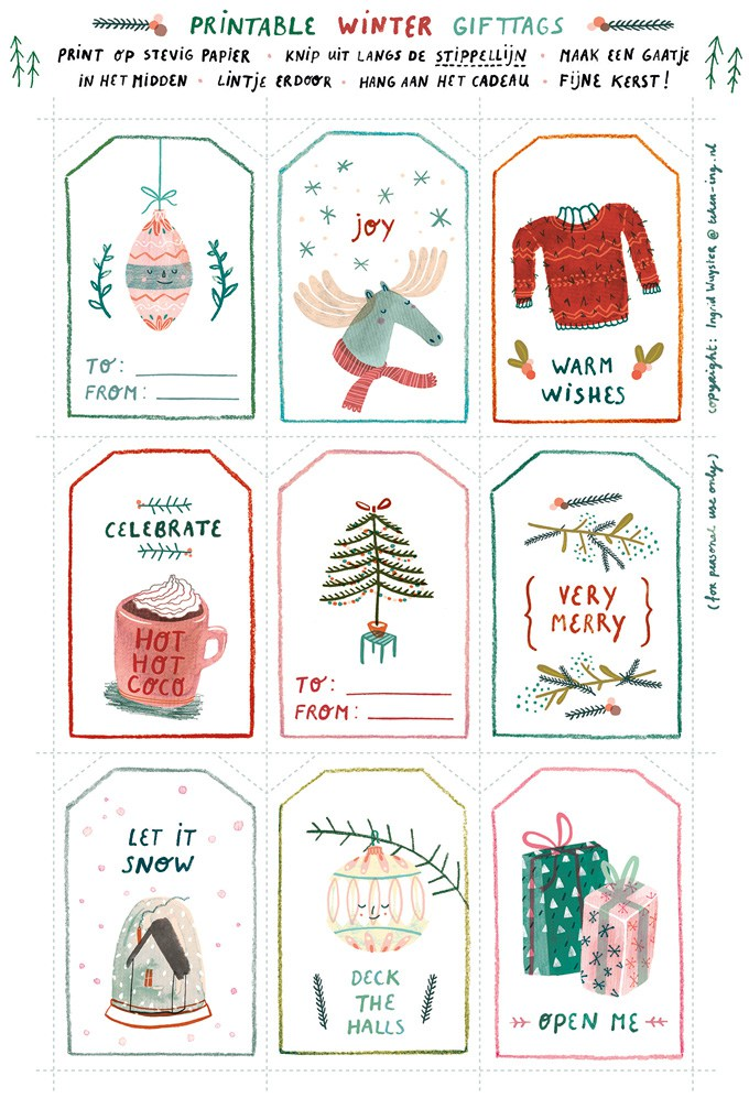 Fun Free Printable Gift Tags The Turquoise Home