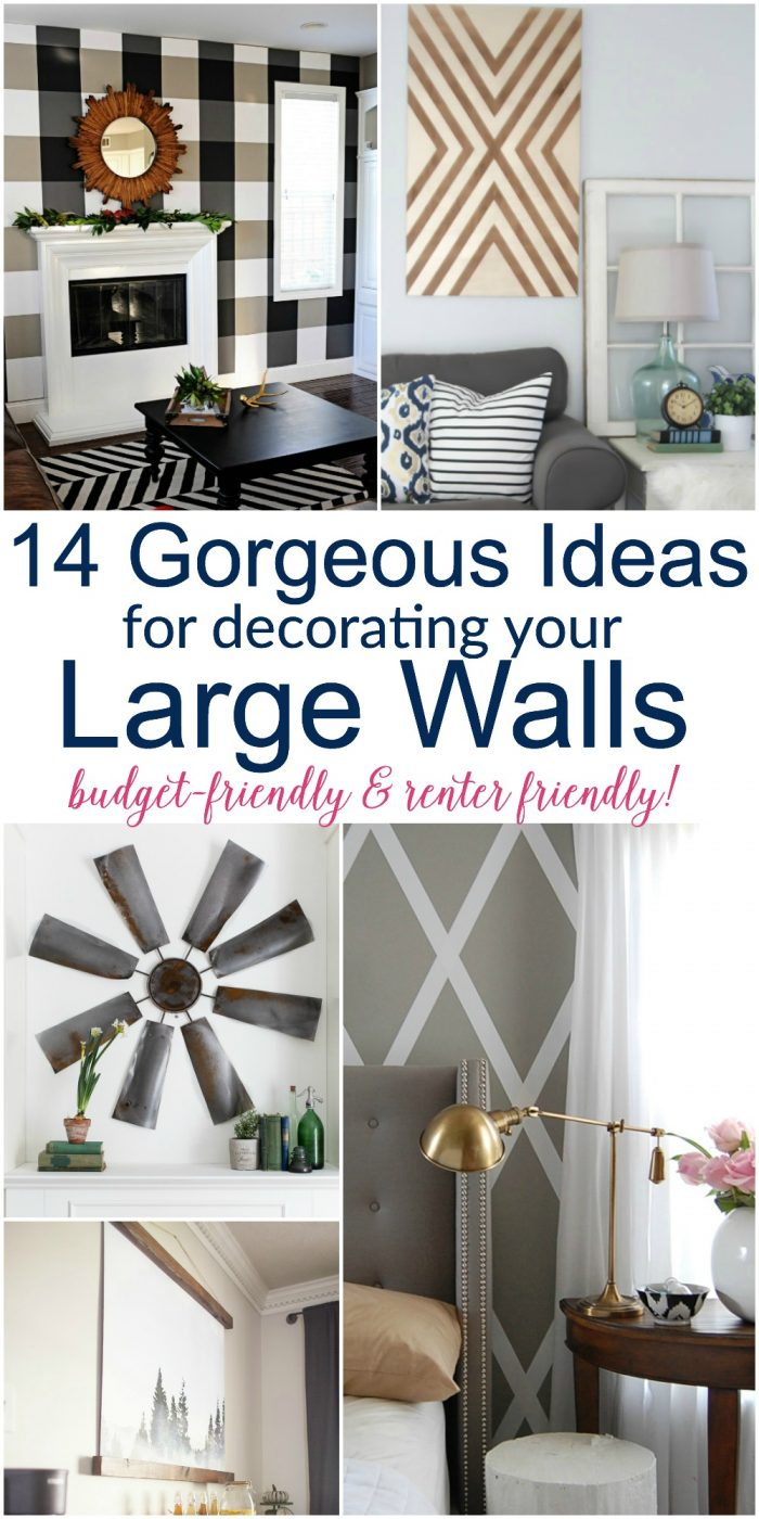 ideas for decorating a large wall in living room silver mirrors diy decor