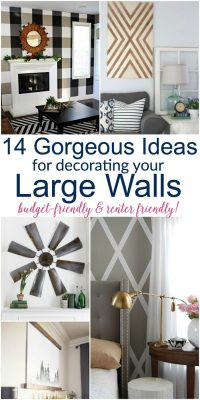 Large DIY Wall Decor Ideas (lots of renter friendly ...