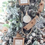 How To Decorate A Flocked Farmhouse Christmas Tree The Turquoise Home