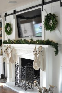 How to Decorate a Mantel with a TV Above It | The ...