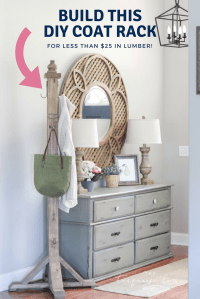 How to Build a Wooden DIY Coat Rack {for less than $25 in