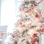 The Prettiest Flocked Christmas Trees The Turquoise Home