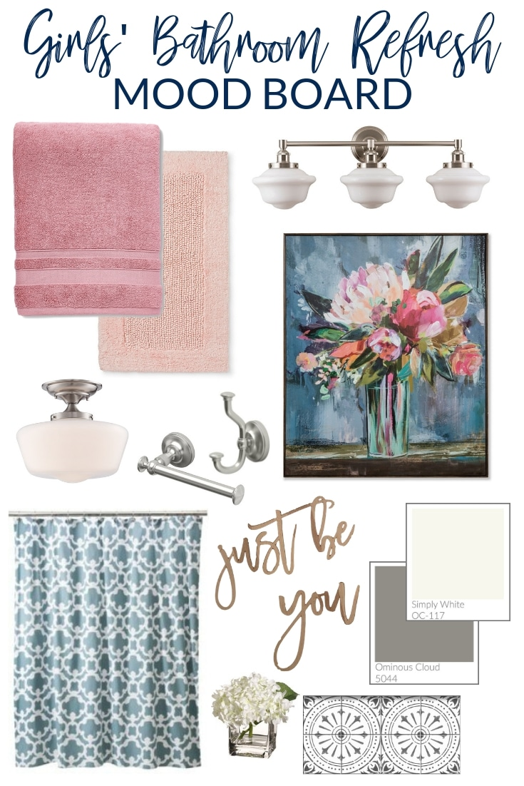 Girls Bathroom Girls Bathroom Refresh Plans And Mood Board The Turquoise Home