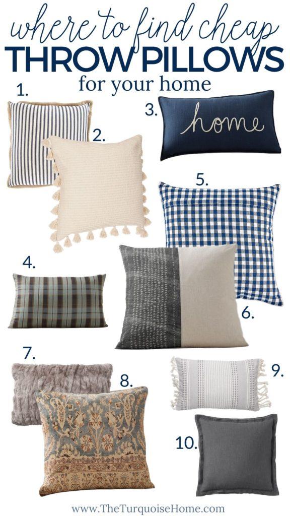 find cheap throw pillows online