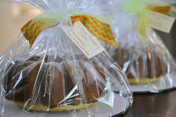 Lemon Rosemary Bundt Cake