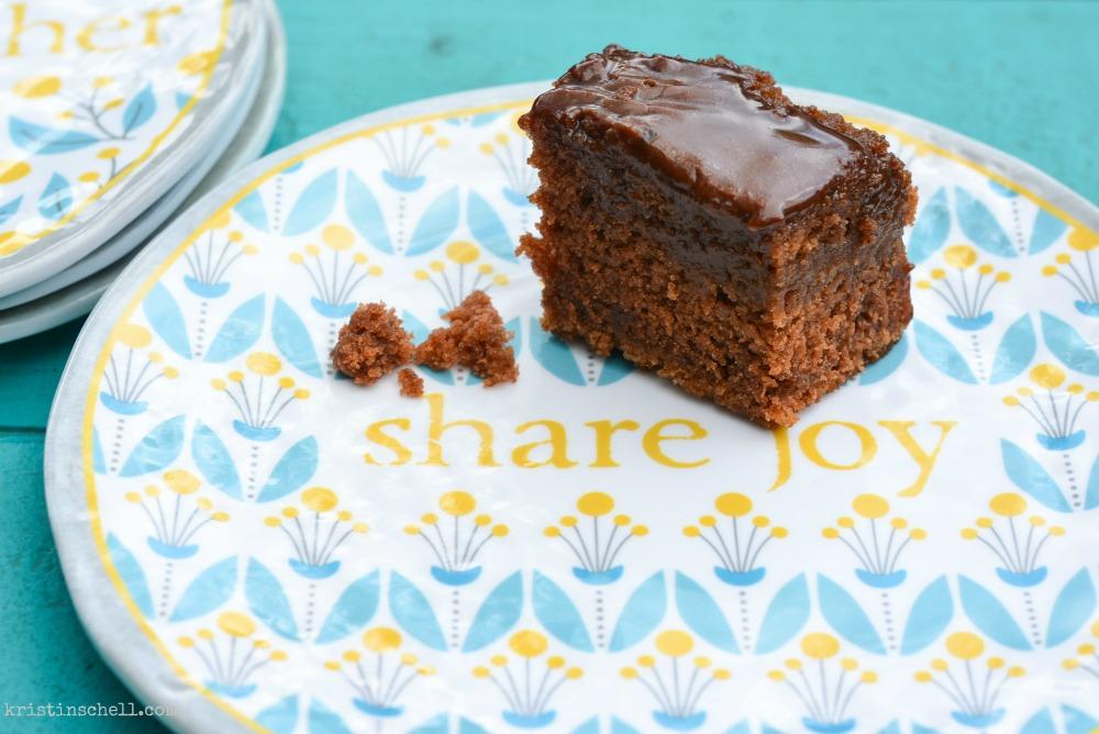 Chocolate Fudge Sheet Cake Recipe | theturquoisetable.com