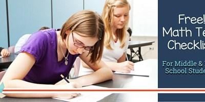 Math Test Checklist