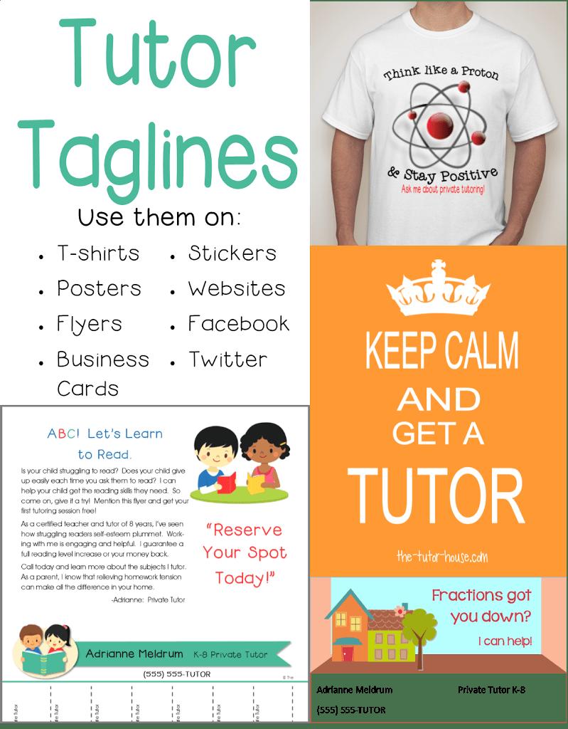 Tutor Tag Lines