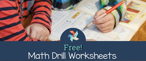 Free Math Drill Worksheets