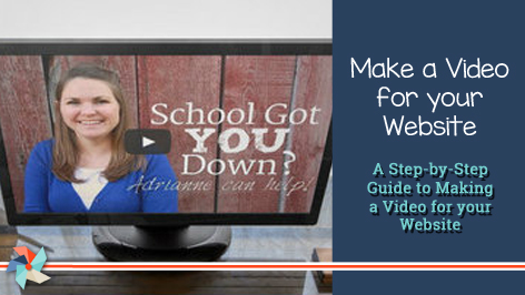 Make a Video for Your Tutor Website