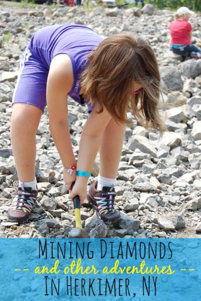 Mining diamonds at the Herkimer Diamond Mine.