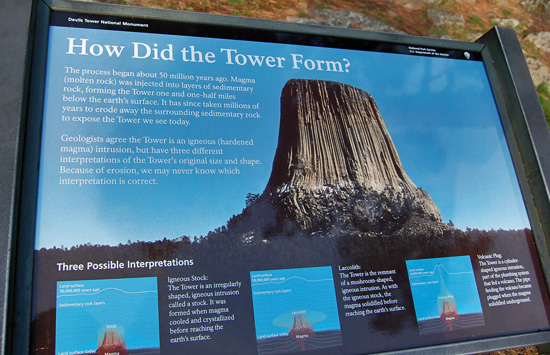 How did Devils Tower form/