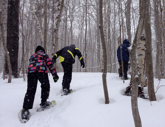 Snowshoeing at Smugglers' Notch Vermont