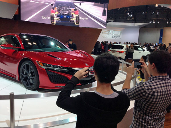 Visiting the NY International Auto Show with kids