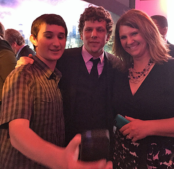 Selfie with Jesse Eisenberg at the premiere of Batman vs. Superman: Dawn of Justice.