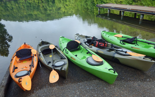 Kayaks ready for action at ACE Adventure Resort, WV
