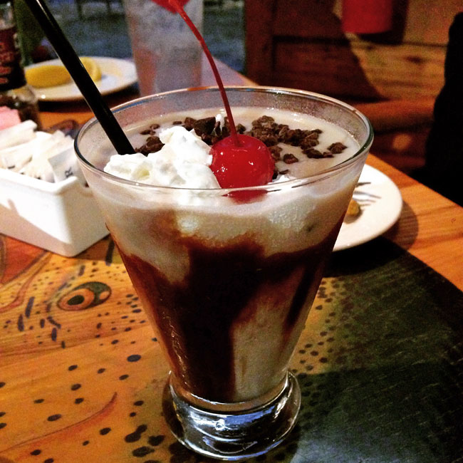 Get a Bushwacker at Gulf Shores restaurants - signature cocktail of Alabama's Gulf Coast.