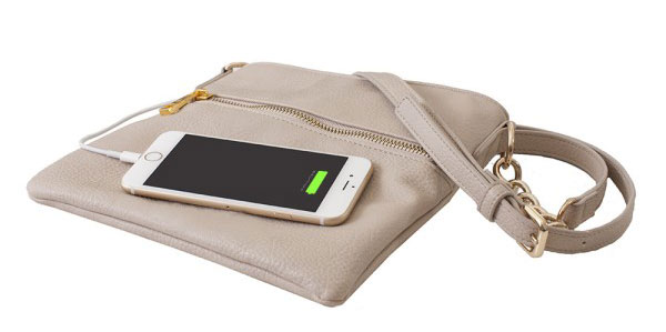 Crossbody Power Purse: Charge your phone in style and on the go.