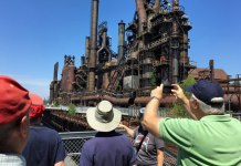 Touring Bethlehem Steel in PA.