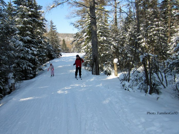 Cross-country ski trails are plentiful in Lake Placid, NY.