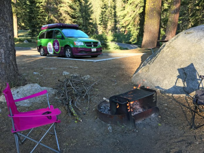 Camping in Sequoia National Park with the JUCY RV.