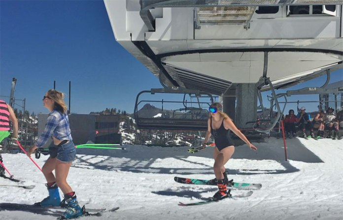 Skiing in a bathing suit? Not me, but you could at Squaw Valley in July!