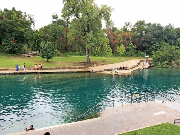 Barton Springs Pool in Austin, TX.