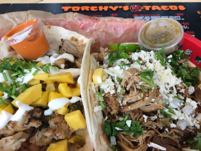 Dinner at Torchy's Tacos is yumm-o!