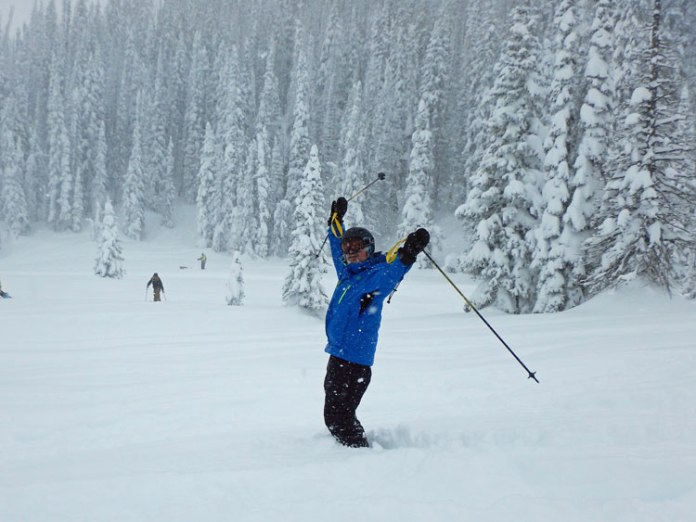 Powder day skiing at Steamboat Springs, CO!
