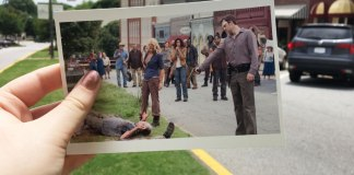 Woodbury scene from The Walking Dead