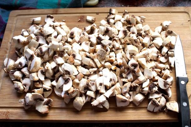 diced mushroom