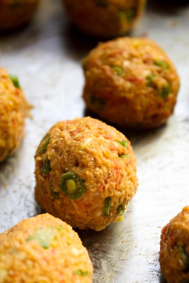 Manchurian (vegetarian meatless meatballs)