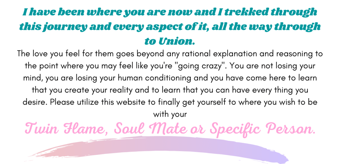 If you are not in yet in Union with your Twin Flame or Specific Person, (2)